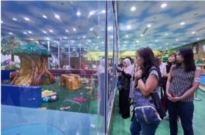 Indoor playground facility for infants