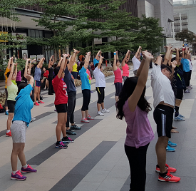 Fitness event at Paya Lebar Square